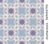 vector ethnic pattern with... | Shutterstock .eps vector #569454793