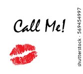 "red lips with text ""call me"".... 