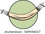 hammock | Shutterstock .eps vector #569456017