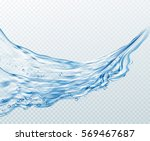 transparent water splashes ... | Shutterstock .eps vector #569467687