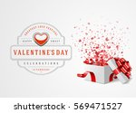 happy valentines day greeting... | Shutterstock .eps vector #569471527