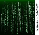 binary code green neon glow...   Shutterstock .eps vector #569476837