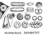hand drawn vector illustrations.... | Shutterstock .eps vector #569489797