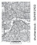 vector poster map city london | Shutterstock .eps vector #569491903