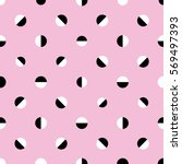 seamless abstract retro dots... | Shutterstock .eps vector #569497393
