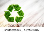 fresh green leaf recycle symbol ... | Shutterstock . vector #569506807