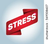 stress arrow tag sign. | Shutterstock .eps vector #569508607