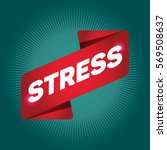 stress arrow tag sign. | Shutterstock .eps vector #569508637