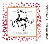 sale banner with discount offer ... | Shutterstock .eps vector #569508823