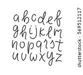 simple line alphabet. thin line ... | Shutterstock .eps vector #569512117