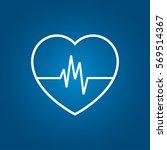 heartbeat icon | Shutterstock .eps vector #569514367