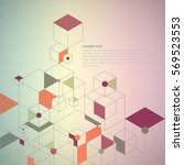 abstract background with  cubes | Shutterstock .eps vector #569523553