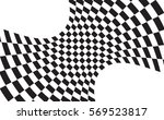 checkered flag. racing flag... | Shutterstock .eps vector #569523817
