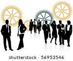 illustration of business people | Shutterstock .eps vector #56953546