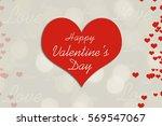 happy valentine' day background | Shutterstock . vector #569547067