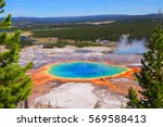 grand prismatic spring... | Shutterstock . vector #569588413