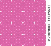 seamless heart pattern. | Shutterstock .eps vector #569590357