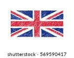 hand drawn vector flag of... | Shutterstock .eps vector #569590417