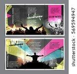 disco party brochure layout | Shutterstock .eps vector #569594947