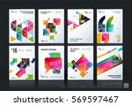 business vector template mega... | Shutterstock .eps vector #569597467