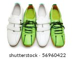 Sneakers Isolated On White...