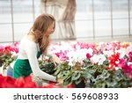 Florists Woman Working With...