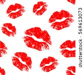 Vector Red Seamless Pattern On...