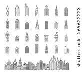 city builder vector... | Shutterstock .eps vector #569622223