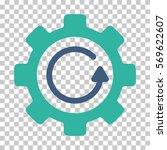 cobalt and cyan gear rotation... | Shutterstock .eps vector #569622607