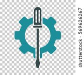soft blue tuning options gear... | Shutterstock .eps vector #569626267