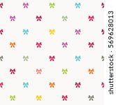 cute seamless pattern with... | Shutterstock .eps vector #569628013