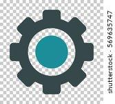 soft blue gear toolbar... | Shutterstock .eps vector #569635747