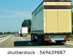 trucks at the road in... | Shutterstock . vector #569639887