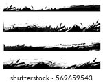 set of grunge borders. vector... | Shutterstock .eps vector #569659543