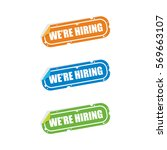 we are hiring sticker labels | Shutterstock .eps vector #569663107