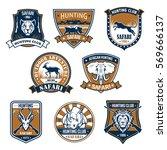 hunting sport heraldic icons.... | Shutterstock .eps vector #569666137