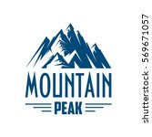 mountains icon. vector emblem... | Shutterstock .eps vector #569671057