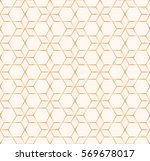 golden geometric seamless... | Shutterstock .eps vector #569678017