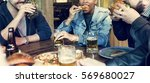 Small photo of Diverse People Enjoy Food Drinks Party Restaurant