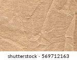 canvas brown creases texture...   Shutterstock . vector #569712163
