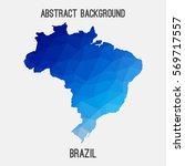 brazil map in geometric... | Shutterstock .eps vector #569717557
