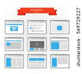 web site page templates... | Shutterstock .eps vector #569729227