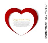 heart paper background... | Shutterstock .eps vector #569740117