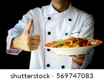 Chef Proudly Presenting Curry...