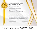 qualification certificate of... | Shutterstock .eps vector #569751103