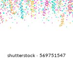 colorful confetti and... | Shutterstock .eps vector #569751547