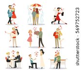 couple in love vector... | Shutterstock .eps vector #569752723