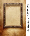 vintage frame on old grunge wall | Shutterstock . vector #56975935