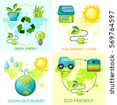 cartoon ecology concept with...   Shutterstock .eps vector #569764597