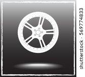 car wheel sign icon  vector... | Shutterstock .eps vector #569774833